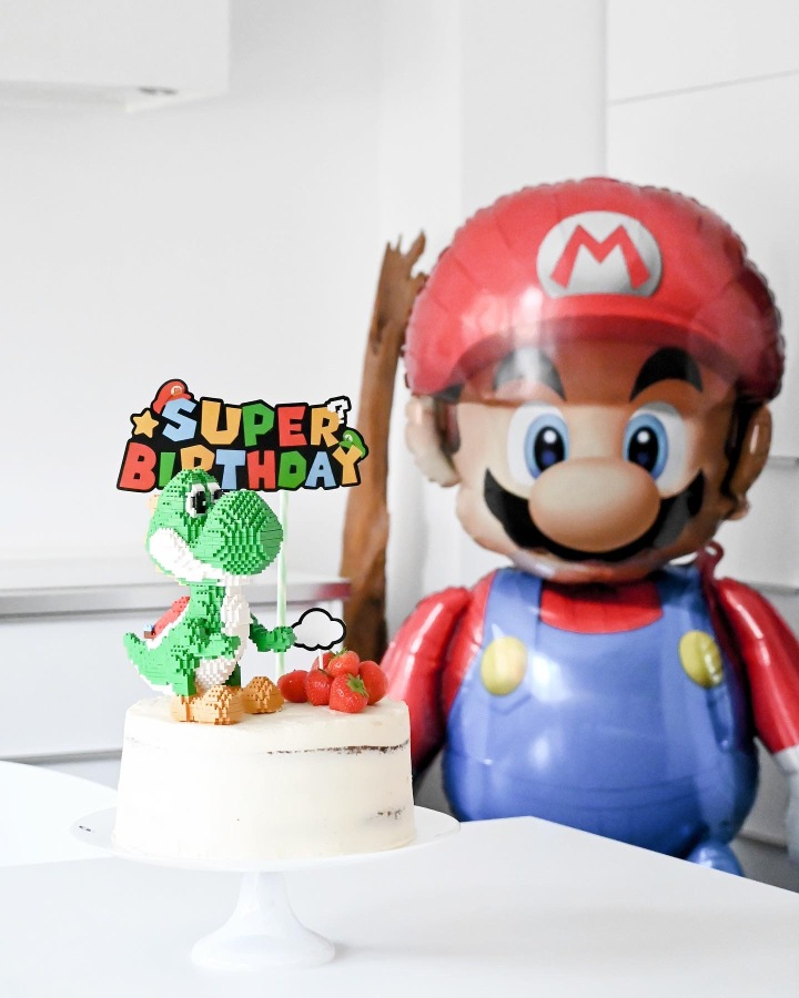 POWER UP! Super Mario Birthday Party #Yoshi Torte
